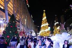 BANGKOK, THAÏLANDE - 21 NOVEMBRE 2017 : Joyeux Noël et heureux Image stock