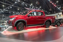 Bangkok, Thaïlande - 30 novembre 2018 : Salon automobile d'ISUZU D-MAX à l'EXPO 2018 de MOTEUR internationale de l'expo 2018 de m photographie stock libre de droits