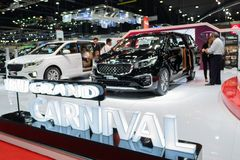Bangkok, Thaïlande - 30 novembre 2018 : Salon automobile de MOTEUR de KIA à T photo libre de droits