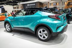 Bangkok, Thaïlande - 30 novembre 2018 : Salon automobile de Toyota C-HR à l'EXPO 2018 de MOTEUR internationale de l'expo 2018 de  photographie stock libre de droits