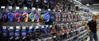 BANGKOK, THAÏLANDE - 22 OCTOBRE : Boutiques de client pour des serrures dans Photographie stock libre de droits