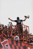 BANGKOK THAÏLANDE 5 OCTOBRE : Fan d'équipe de Bangkok FC pendant le pied Photos libres de droits