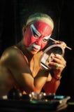 BANGKOK THAÏLANDE - octobre 2015 : Maquillage d'acteur pour l'opéra chinois Images libres de droits