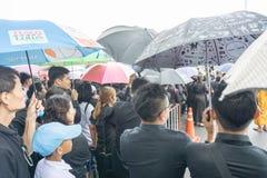 Bangkok, Thaïlande - 23 septembre 2017 : Beaucoup de personnes thaïlandaises AR Image stock