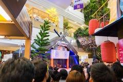 Bangkok, Thaïlande - 12 septembre 2015 : Les médias et le public attendent pour lancer le style d'affaires de japanse au bangkapi photos stock