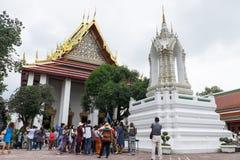 BANGKOK THAÏLANDE SEPTEMBRE 25,2016 : Un guide explan au sujet du histor Image libre de droits