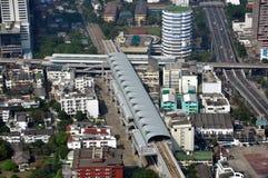 Bangkok, Thaïlande : Vue de gare de Skytrain Photographie stock