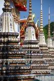 Bangkok, Thaïlande : Wat Pho Chedis Photographie stock