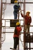 Bangkok thailändsk arbetare i en byggnadsplats Royaltyfri Foto