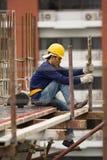 Bangkok thailändsk arbetare i en byggnadsplats Royaltyfria Bilder