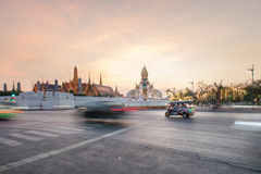 BANGKOK-THAILAND, 12月28日:盛大宫殿寺庙,曼谷地标2015年12月28日,曼谷,泰国的 图库摄影