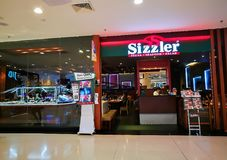 Sizzler restaurant and steakhouse with salad bar. royalty free stock images