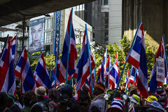 Bangkok, Thailand – January 30: protesters shut down Bangkok t Royalty Free Stock Photo