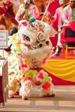 BANGKOK, /THAILAND- 20 DE ENERO: danza de león que se viste durante desfile en celebraciones chinas del Año Nuevo el 20 de enero d Fotos de archivo