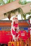 BANGKOK, /THAILAND- 20. JANUAR: Löwetanz, der während der Parade in den Neujahrsfest-Feiern am 20. Januar 2013 ankleidet Lizenzfreie Stockfotografie