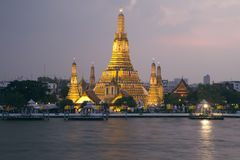 Wat Arun, Bangkok Thailand. Wat Arun temple, Bangkok, Thailand at night Stock Photography