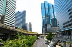 Bangkok Thailand: Affärsområde Arkivbilder