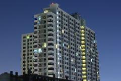 BANGKOK, THAILAND Beautiful panorama view of nightlife of Bangkok city and buildings. BANGKOK, THAILAND - April 15, 2018: Beautiful panorama view of nightlife of Royalty Free Stock Image