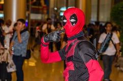 Bangkok, Thailand - April 22, 2017: Cosplay deadpool posing at t Stock Image