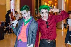 Bangkok, Thailand - April 22, 2017: Cosplay joker posing at the Stock Photos