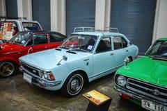Bangkok, Thailand - April 03, 2018: De Club van Toyota Corolla KE toont (Modele20) in Bangkok toont de Gebruikte auto 2018 in Ban stock afbeeldingen