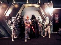 BANGKOK, THAILAND - APRIL 23, 2017: Fictional characters of Star Wars appeared in Thailand Comic Con 2017 in ROYAL PARAGON HALL,. Bangkok Thailand royalty free stock image