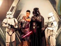 BANGKOK, THAILAND - APRIL 23, 2017: Fictional characters of Star Wars appeared in Thailand Comic Con 2017 in ROYAL PARAGON HALL,. Bangkok Thailand stock photo
