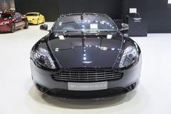 BANGKOK, THAILAND - APRIL 4: Het zwartsel van Aston Martin db9 toont Stock Afbeelding