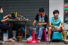 Manual workers Bangkok old town Thailand royalty free stock photos