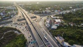 BANGKOK THAILAND - APRIL25: luchtmening van de rotonde van de nakornherberg stock foto's