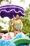Miss Songkran Pageant on Thai New Year Parade. BANGKOK, THAILAND-APRIL 12,2015 : Miss Songkran Pageant in Songkran Festival . Participants in a Songkran royalty free stock photo