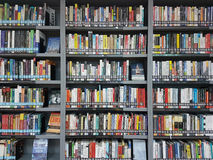 BANGKOK, THAILAND - APRIL 29, 2016: Modern Finance And Economics Books For Rent To Read On Library Shelf. Stock Photo