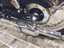 Bangkok,thailand-April 14, 2019:Motor bike detail-A Kawasaki motorcycle was showed in Motorcycle shop royalty free stock photo