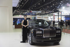 BANGKOK,THAILAND - APRIL 4 :New Classical car brand Rolls-Royce Royalty Free Stock Image