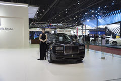 BANGKOK,THAILAND - APRIL 4 :New Classical car brand Rolls-Royce Royalty Free Stock Photos