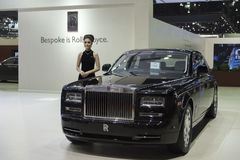 BANGKOK,THAILAND - APRIL 4 :New Classical car brand Rolls-Royce Royalty Free Stock Image