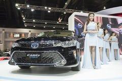 BANGKOK, THAILAND - APRIL 4: nieuw camry Toyota toont op 4,20 April Royalty-vrije Stock Foto's