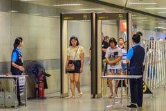 Bangkok, Thailand - April 23, 2017: Passenger is walking pass th royalty free stock photography