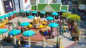 The view of Erawan Shrine, Bangkok, Thailand stock footage