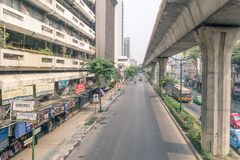The street view of the most popular shopping district in Jatujak market. Bangkok, Thailand - 16 april 2018: The street view of the most popular shopping district royalty free stock images