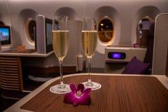 BANGKOK, THAILAND - APRIL 24, 2018: Thai Airways -Commerciële klasse stock fotografie
