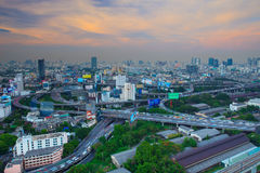 BANGKOK THAILAND -APRIL 21  : top view of bangkok shown express Royalty Free Stock Images
