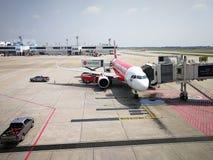 Bangkok, Thailand April 2019 Traveling with AirAsia royalty free stock photos