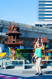 BANGKOK, Thailand - APRIL 12, 2017:  Unidentified tourist are ta Stock Photography