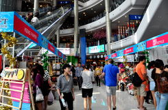 Bangkok, Thailand: Atrium at Terminal 21 Shopping Center Stock Images