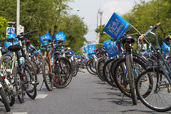 "Bangkok, Thailand ,AUG 16-2015:""Bike for Mom"" historic event set to start making world record Stock Photos"