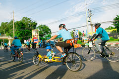 Bangkok,THAILAND, AUG 16-2015 : Bike for mom Royalty Free Stock Photo