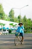 Bangkok,THAILAND, AUG 16-2015 : Bike for mom Royalty Free Stock Photos
