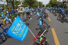 "Bangkok, Thailand ,AUG 16-2015:""Bike for Mom"" historic event set to start making world record Stock Images"