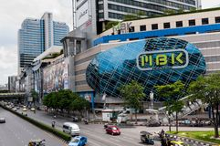 Bangkok, Thailand - Aug 25 2014: Heavy traffic passes in front o Royalty Free Stock Photography